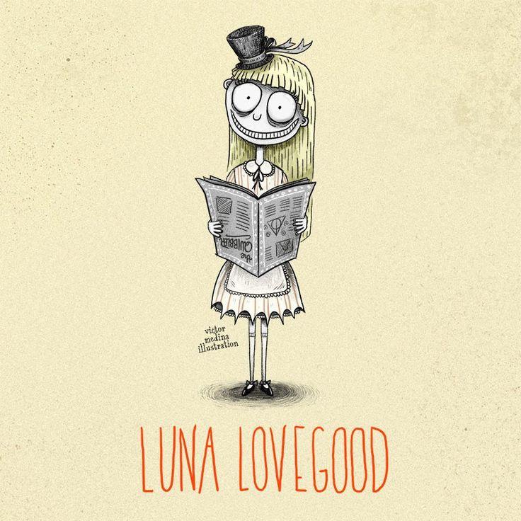 Tim Burton style Harry Potter characters: Luna Lovegood