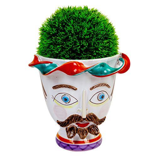 Ceramiche De Simone - Kings & Kings's Head - Plant Pot - TP183 - Portapianta