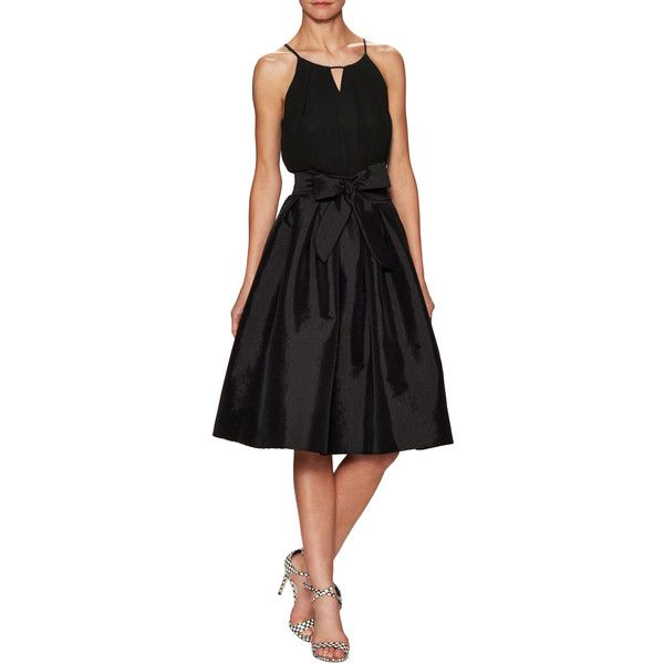Zoe & Sam Women's Party Skirt with Tulle - Black, Size medium ($99) ❤ liked on Polyvore featuring skirts, black, going out skirts, panel skirt, party skirts, inverted pleat skirt and knee length tulle skirt