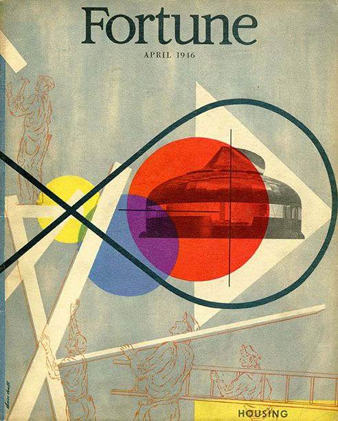 Mid-Century Modern design, Postwar 1940's Fortune magazine cover by Lester Beall