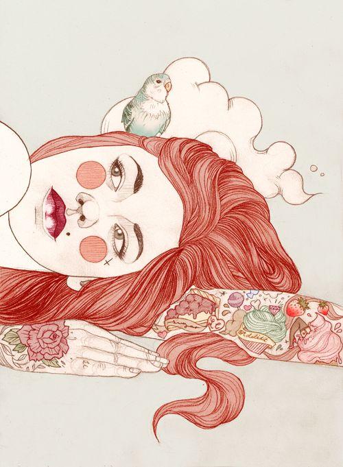 Os personagens tatuados de Liz Clements - Choco la Design | Choco la Design | Design é como chocolate, deixa tudo mais gostoso.