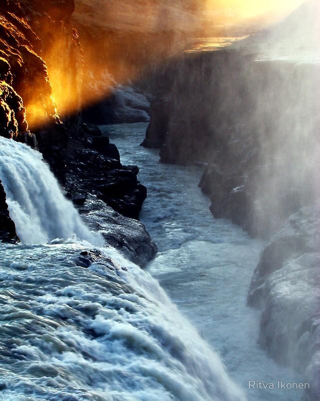 Quot Golden Sunset In Gullfoss Quot Iceland