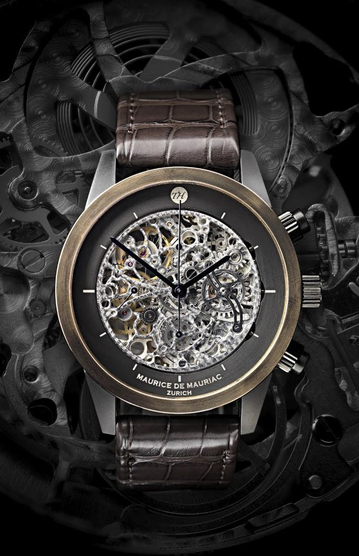 Bespoke Maurice de Mauriac Skeleton watch. Luxury Swiss watches for men and women.