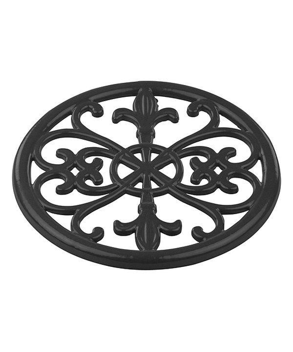 Look At This Home Basics Black Cast Iron Fleur De Lis