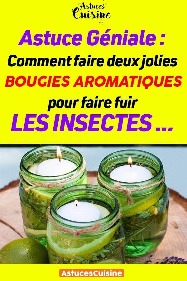 Astuce Geniale Comment Faire Deux Jolies Bougies Aromatiques