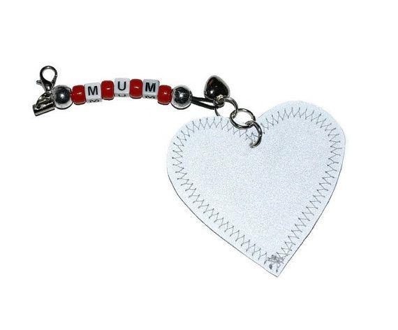 Mum safety reflector bag accessory  key chain  gift by leonorafi