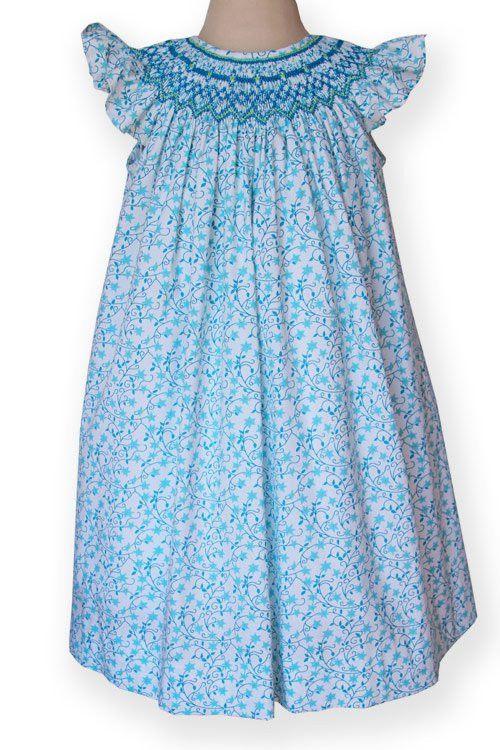 Hazel, Girls Shooting Stars Smocked Bishop Dress – Carousel Wear