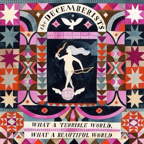 Carson Ellis, album artwork, the Decemberists, colour, pattern, design, illustration, print, lettering, type