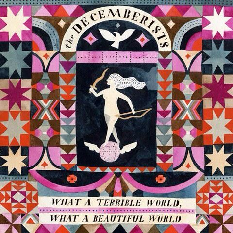 Carson Ellis, album artwork, the Decemberists, colour, pattern, design, illustration, print, lettering, type