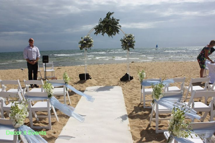 Ceremony on the beach #beach #wedding #inspiration #decoration #beachwedding #melbourne #melbournebeaches #melbournewedding #weddingdecor #weddingdecorations #weddingdesign #weddingstyling #beachceremony #beachweddingceremony #weddingarches #weddingbackdrop www.decorit.com.au (5)