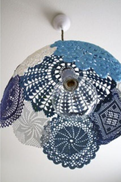 Doily lamp that will be really easy if I just do it