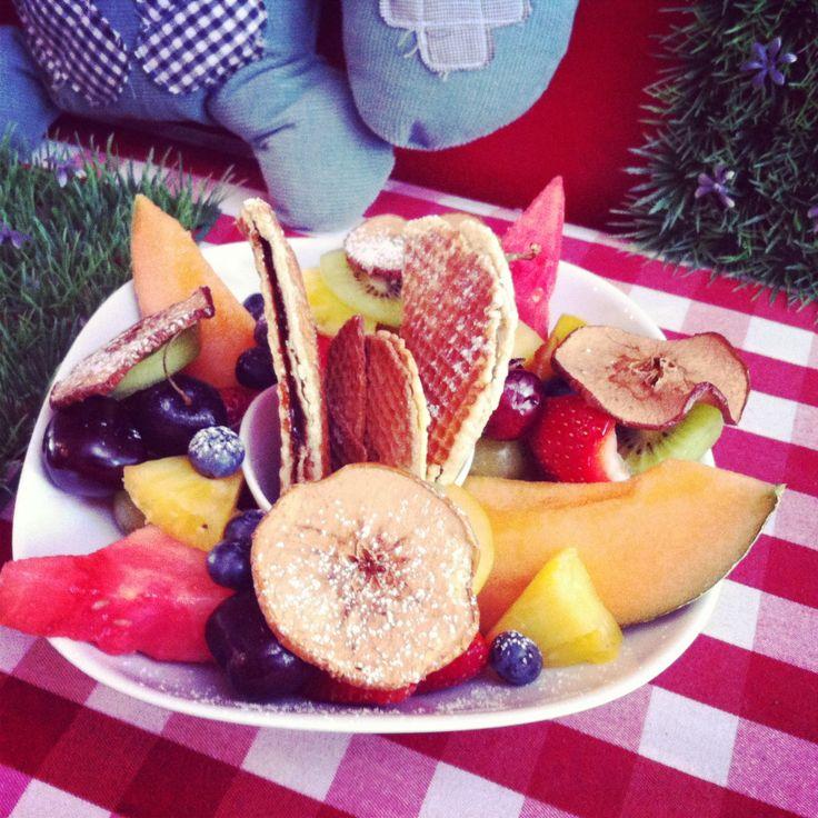 L'assiette frutti gaufrée