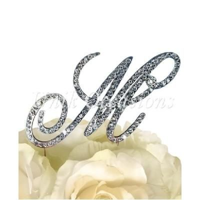 Unik Occasions Victorian Rhinestone Wedding Cake Topper Letter M, Silver, Large from UnbeatableSale at SHOP.COM
