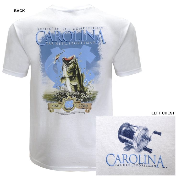 1000 images about unc fishing gear on pinterest for Fishing team shirts