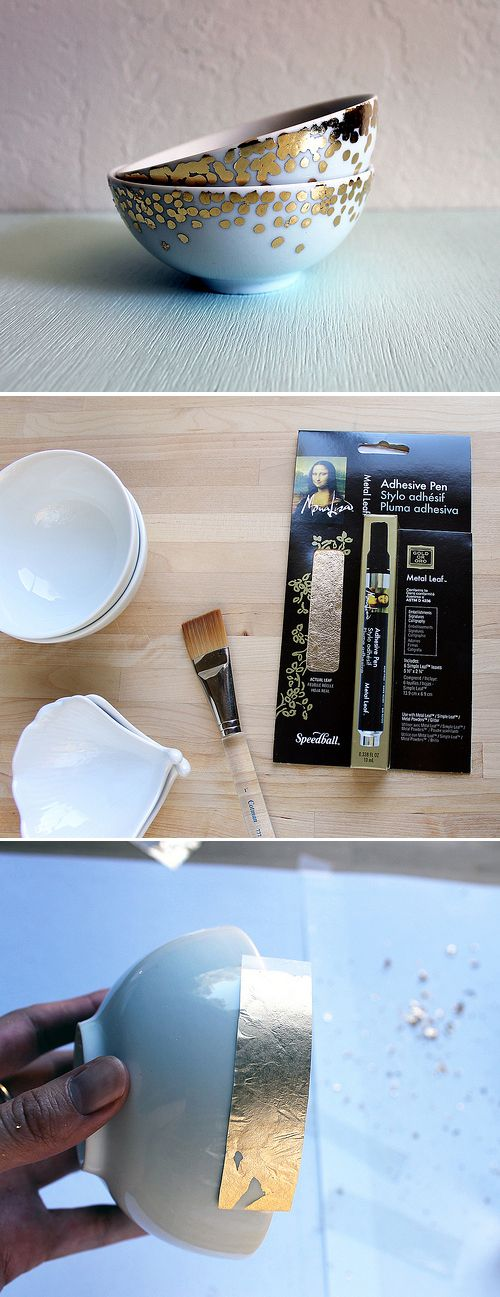 gold or silver leaf ceramic | vitamini handmade