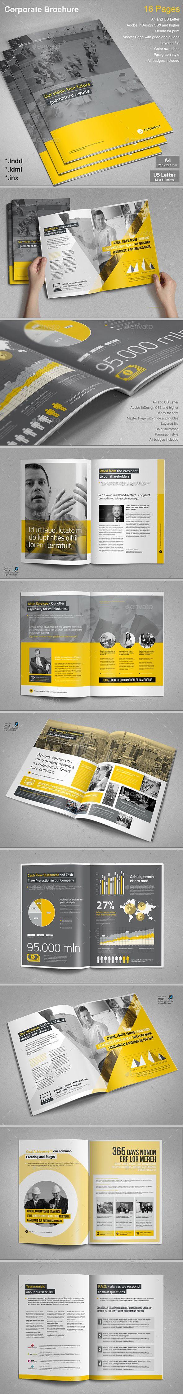 Corporate Brochure Vol.5 InDesign Template • Download ➝ https://graphicriver.net/item/corporate-brochure-vol5/14761306?ref=pxcr