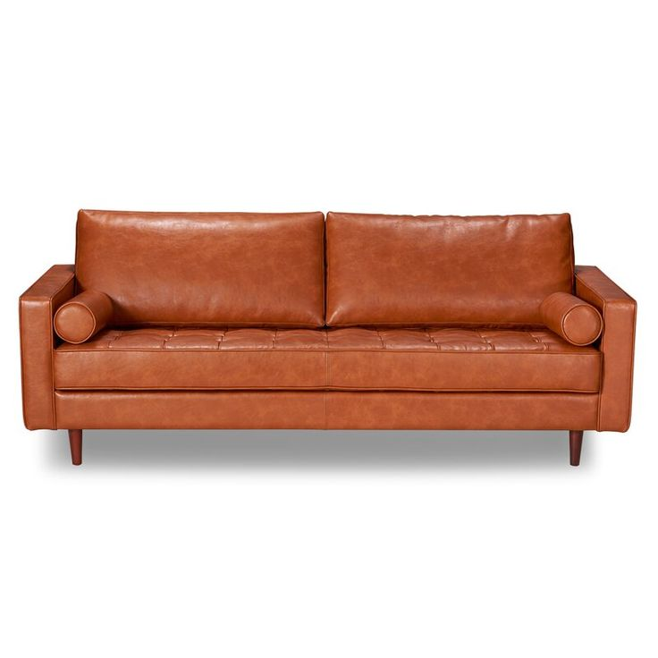 Mid Century Modern Leather Sofa, Who Makes The Best Leather Sofas
