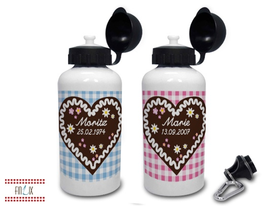 Alu-Trinkflasche personalisiert