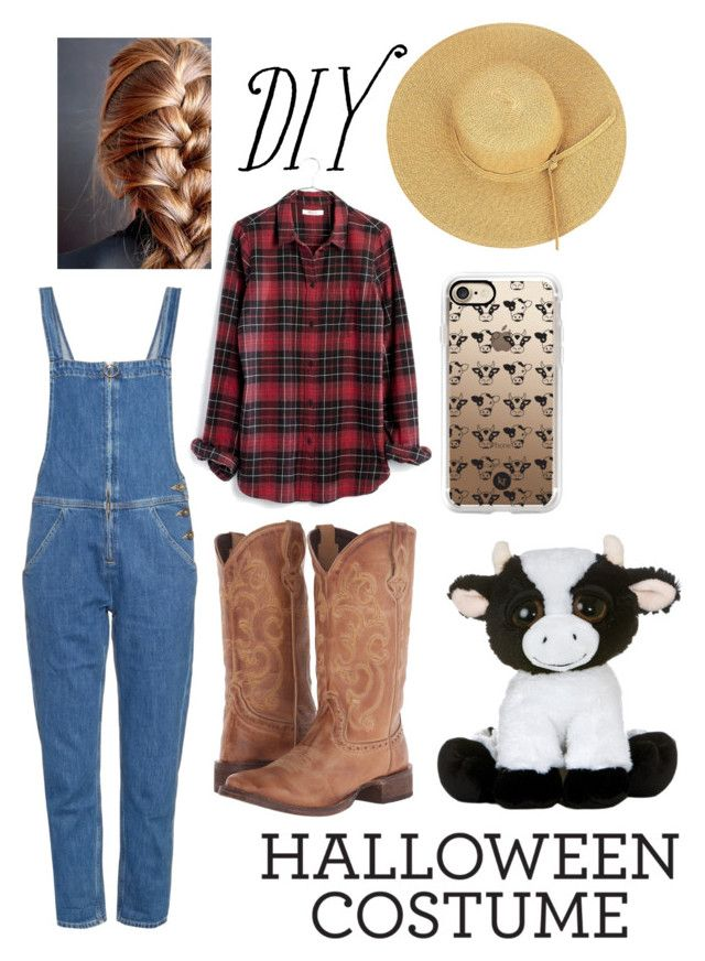 """DIY Halloween Costume Contest : Dairy Farmer"" by shth0mas on Polyvore featuring Madewell, M.i.h Jeans, Roper, Casetify, halloweencostume and DIYHalloween"