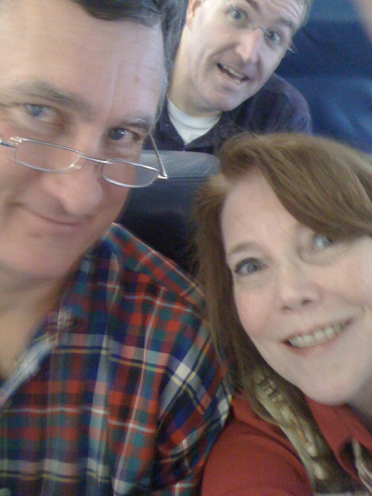 Hubby and I were taking a photo documenting our vacation, when the guy behind us on the plane leans into our pic! We all had a good laugh. Great way to meet your neighbors! LOL!: Photo Documents
