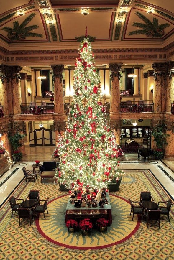 The Jefferson Hotel in Richmond, Virginia #ohChristmasTree
