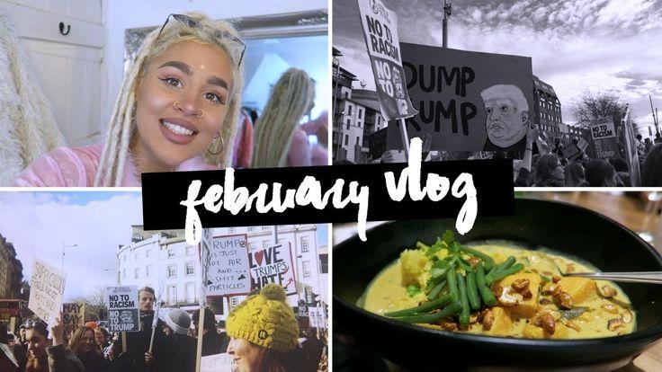 Feb Vlog: Anti Racism March, Birthday Drinks, London Fun.