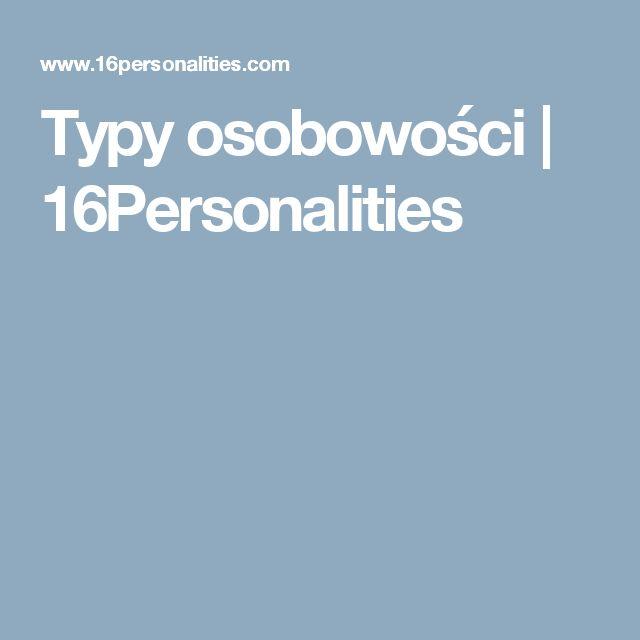 Typy osobowości   16Personalities