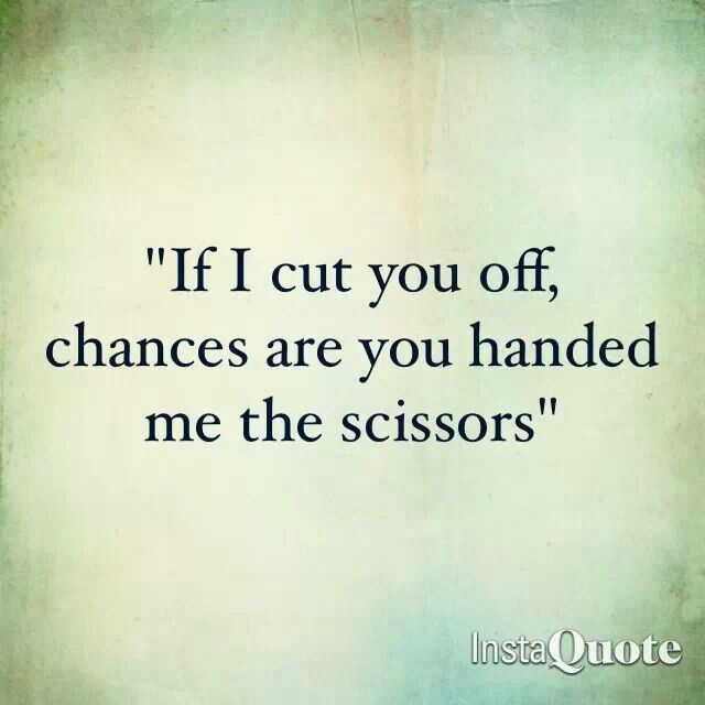 For real. Likely many years before. I'm getting better at cutting loose before hurt happens.