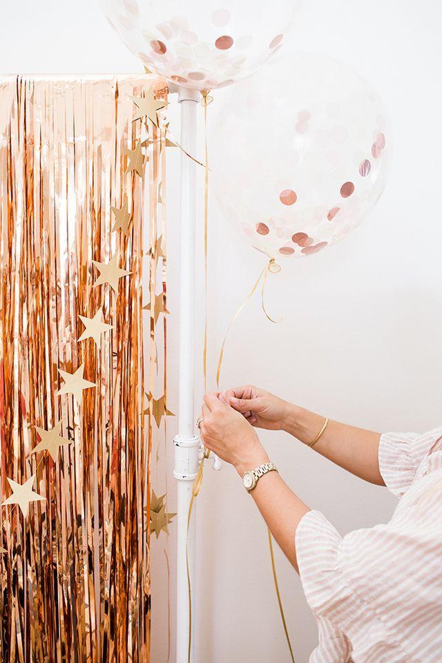 DIY: A Rose Gold Graduation Party Balloon Setup