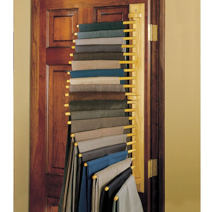 The Closet Organizing 20 Trouser Rack - Hammacher Schlemmer - even though