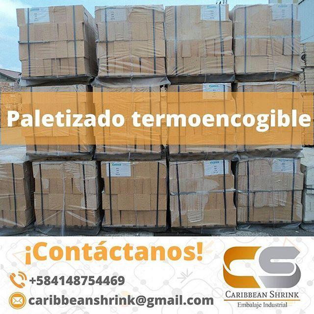 Contamos con material termoencogible para proteger el paletizado de tus bienes. ¡Contáctanos!   #Paletizado #ShrinkWrap #Protección  #EmbalajeTermoencogible #paletização #plástico