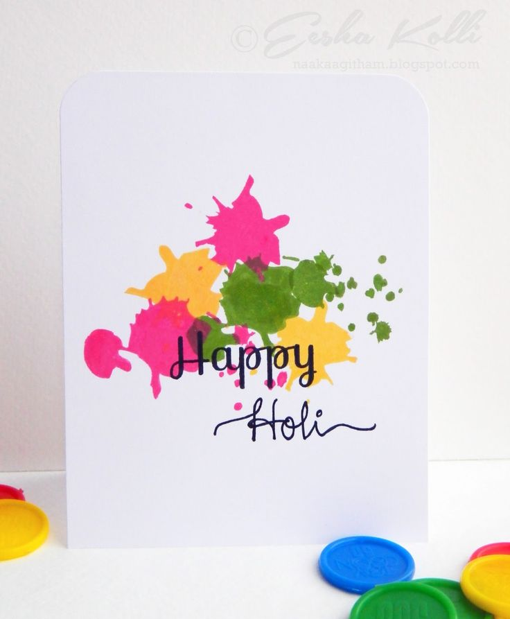 Awesome Card Making Ideas For Holi Part - 13: Happy Holi