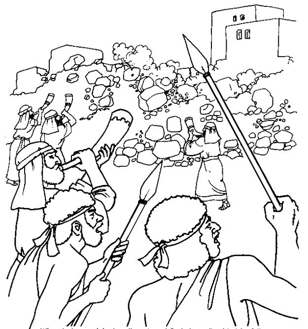 31 best bible kids jericho images on pinterest school for Walls of jericho coloring page
