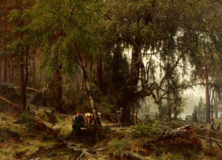 Werner Holmberg: Metsa sadeilmalla, 1859