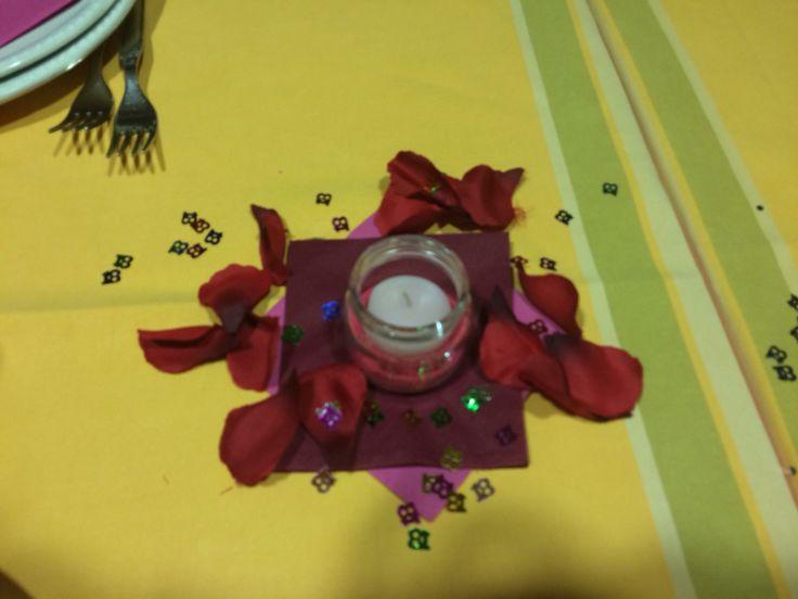 Candelina decorativa come centro tavola molto economica