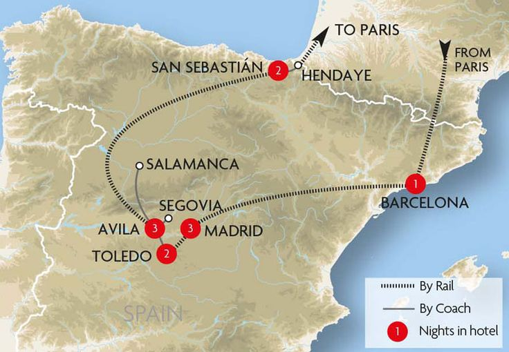 Medieval Cities Of Spain Map