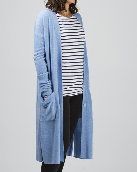 100% merino longline cardigan, (available in three shades) $199 www.sassind.com