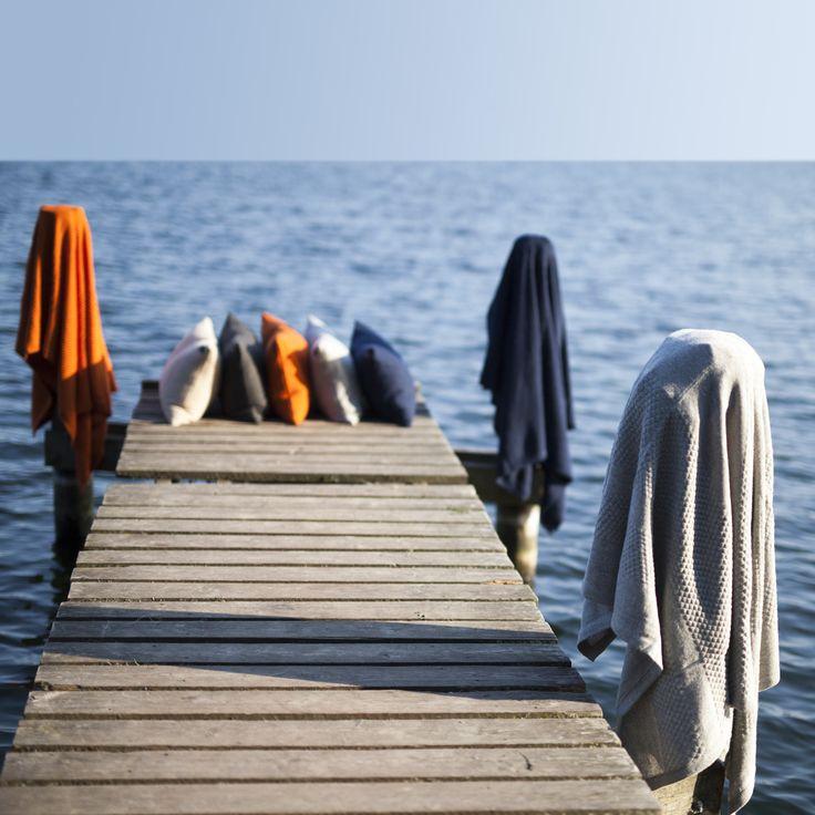 Sømands puder og sømands tæpper, begge dele i 100% blød alpaka uld.