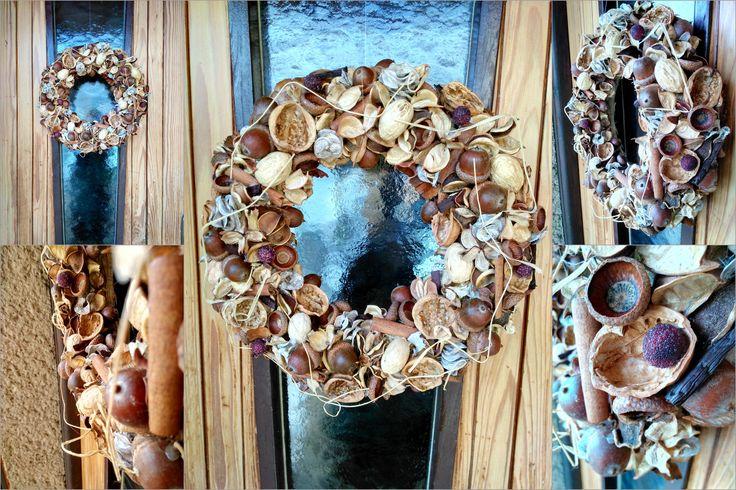 Natural wreath Autumn decoration Věnec na pověšení. Podzimní dekorace.