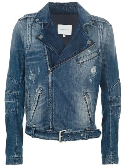 PIERRE BALMAIN Denim Biker Jacket