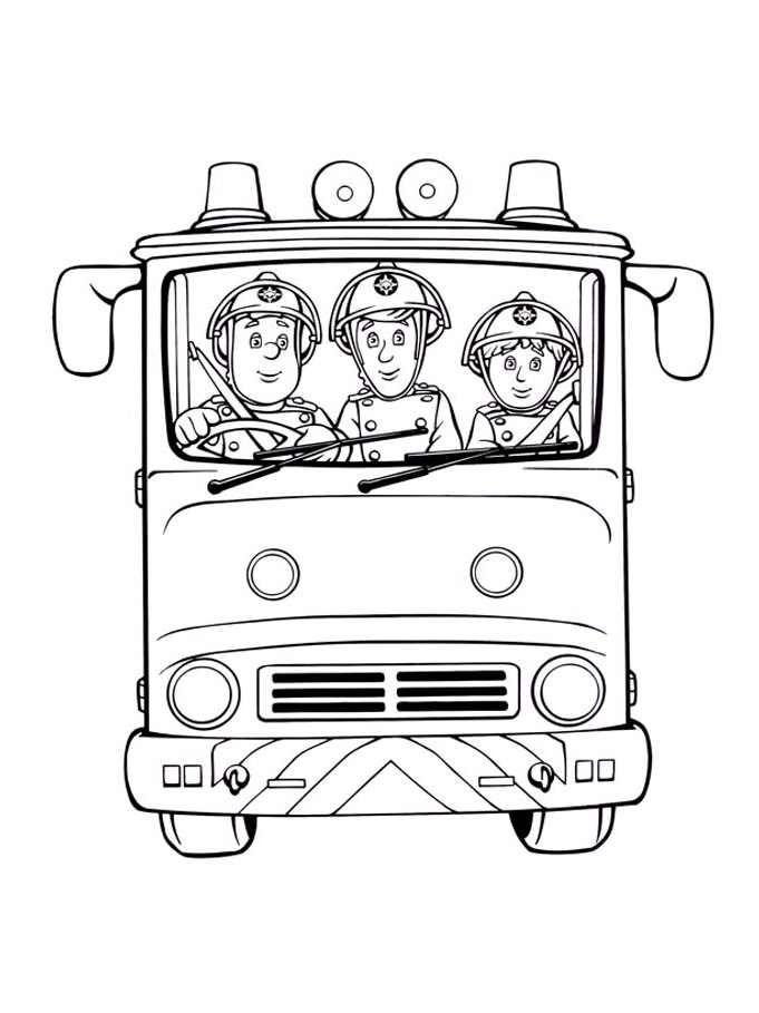 Dessin De Sam Le Pompier Gratuit A Telecharger Et Colorier Coloriage De Sam Le Pompier Dan Coloriage Camion Coloriage Camion Pompier Dessin Camion De Pompier