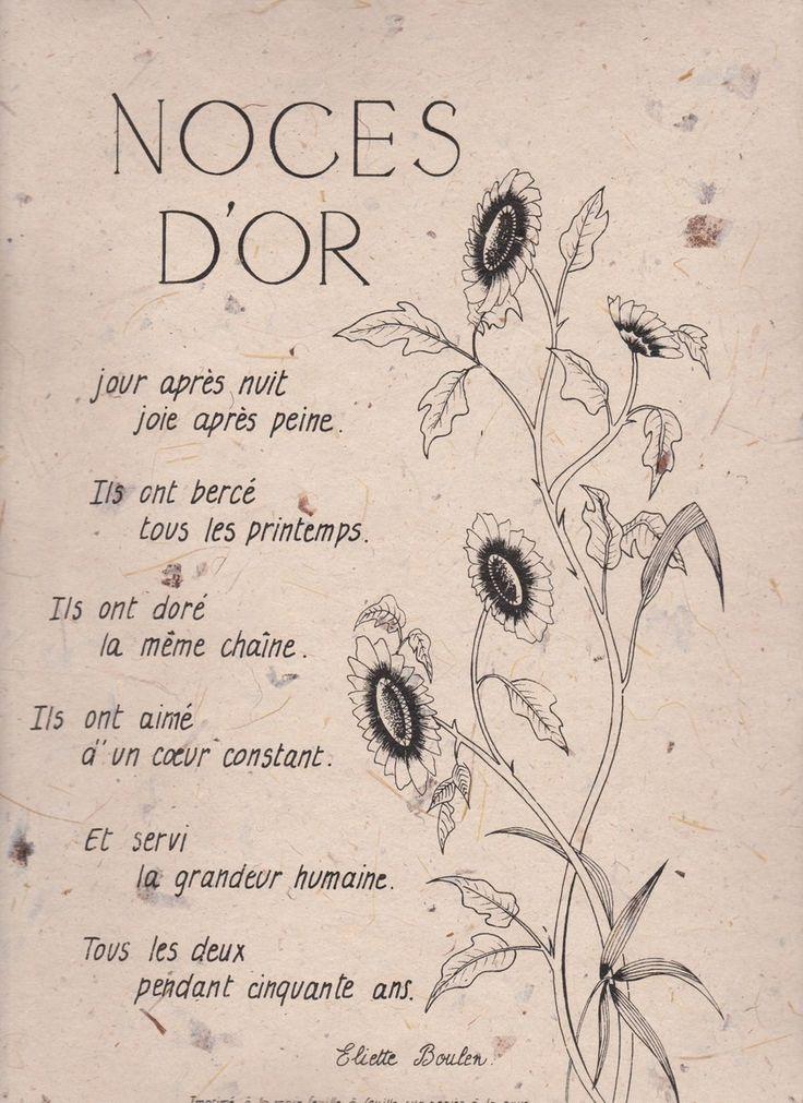 """Texte+sur+parchemin+""""Noces+d'Or"""""""