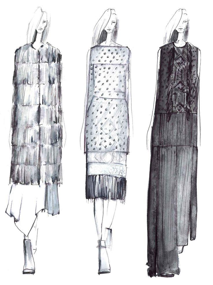 Fashion Sketchbook - fashion illustration lineup; fashion portfolio inspiration…