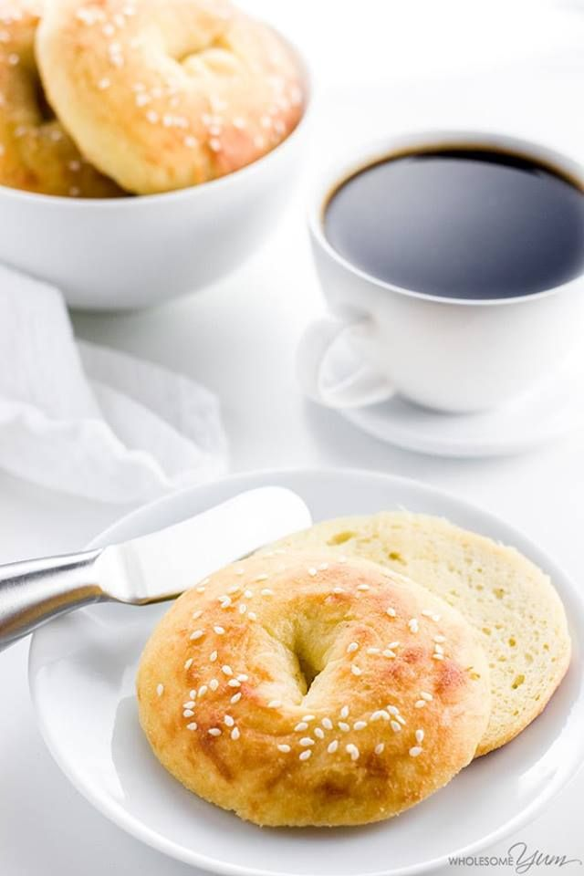 Trim Healthy Mama Friendly Bagels! (S) GF and only 5 ingredients! www.TrimHealthyMama.com