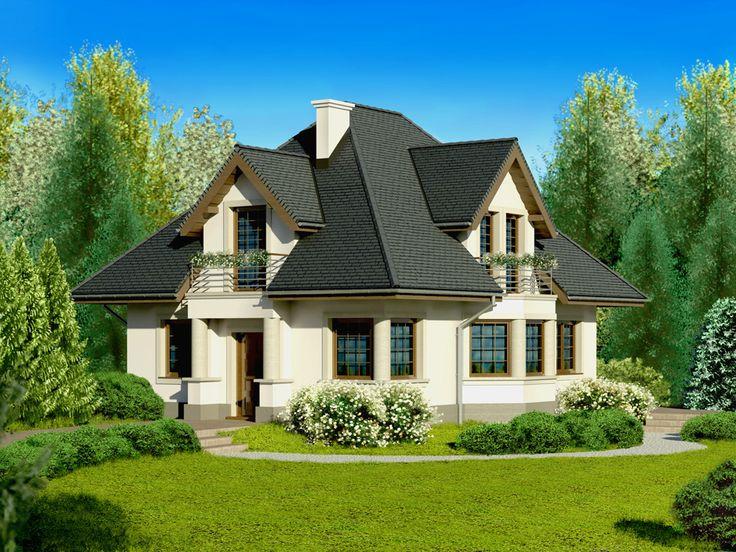 DOM.PL™ - Projekt domu Dom przy Sielskiej 2 CE - DOM EB2-85 - gotowy projekt domu