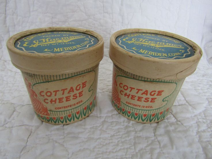 Vintage Cottage Cheese Cardboard Carton's from Kaemmer & Son Meriden Conn SALE by rarefinds4u on Etsy