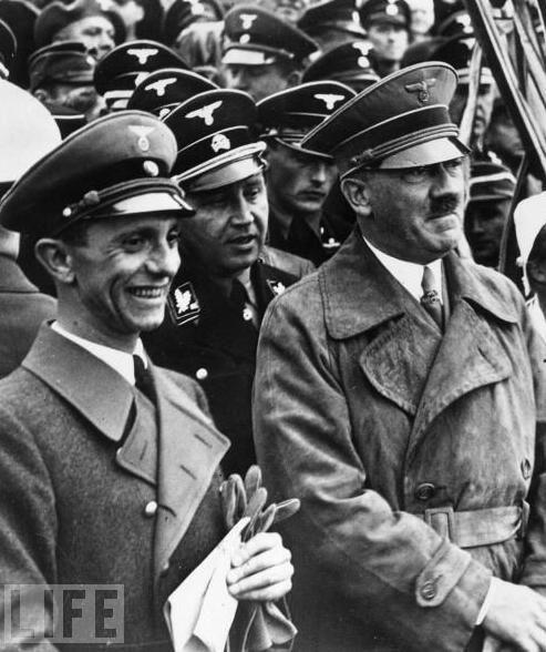 Propaganda Minister Joseph Goebbels with Adolf Hitler ...