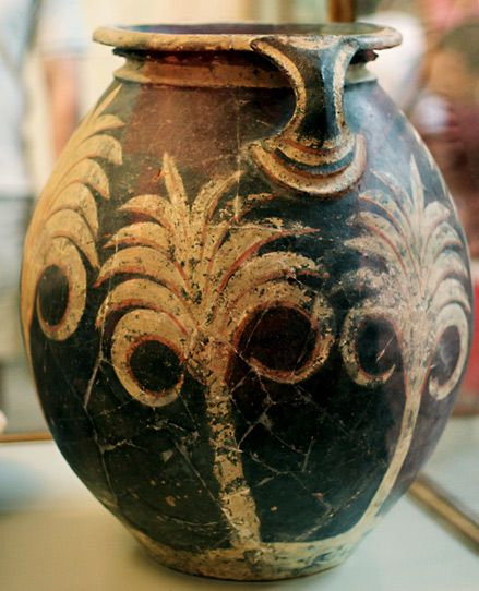 Minoan Pot With Palms – Konossos
