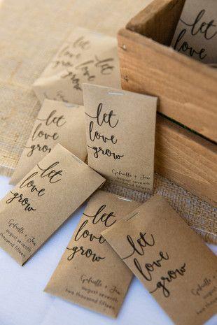 Let Love Grow Seed Packet Wedding Favors Weddingbellfavors