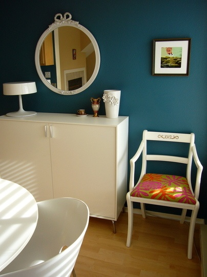 It's more bluish than I thought @Toni   Benjamin Moore Blue Echo. I think we may have a winner!